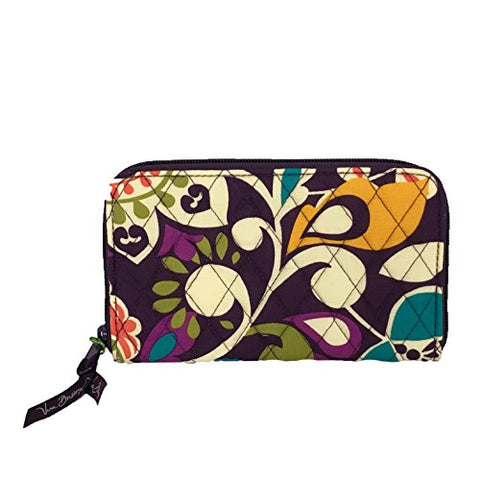 Vera Bradley Women'S Accordion Wallet Plum Crazy One Size