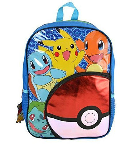 "Pokemon 16"" ""Pokeball"" Front Pocket Backpack"