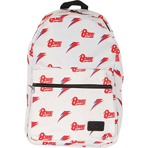 David Bowie Backpack White