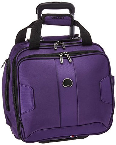 Delsey Luggage Sky Max 2 Wheeled Underseater, Purple