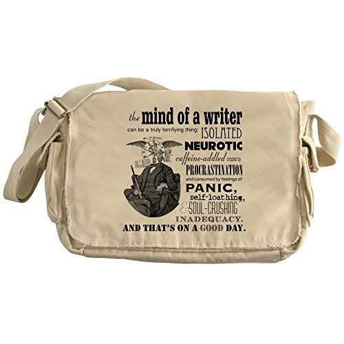 CafePress - The Mind Of A Writer - Unique Messenger Bag, Canvas Courier Bag