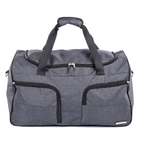 Bugatti Ryan Duffle Bag, Polyester, Charcoal
