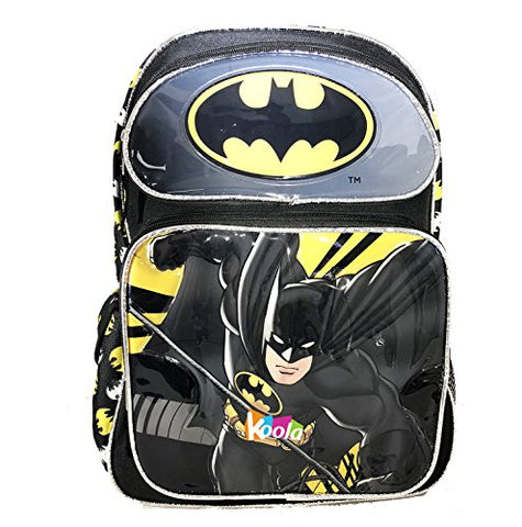 "12"" DC Comics Batman Boys School Backpack Book Bag Kids Children"