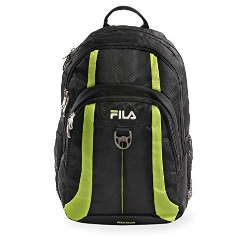 Fila Edge Laptop Backpack BLACK/NEON LIME One Size