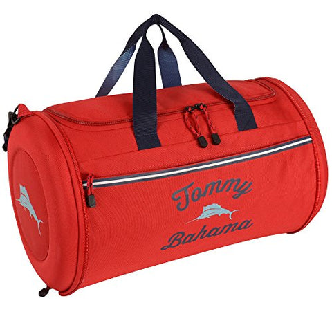 Tommy Bahama Tumbler 20 Inch Clamshell Duffle, Red/Navy/Light Blue, One Size