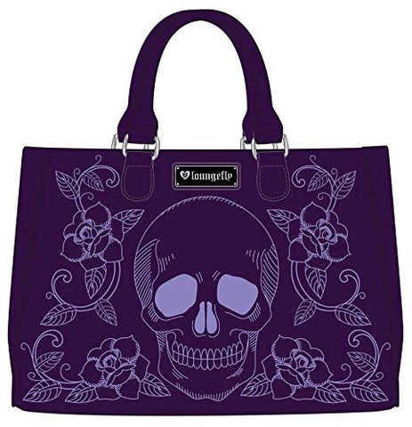 Loungefly Faux Leather Skull and Roses Handbag