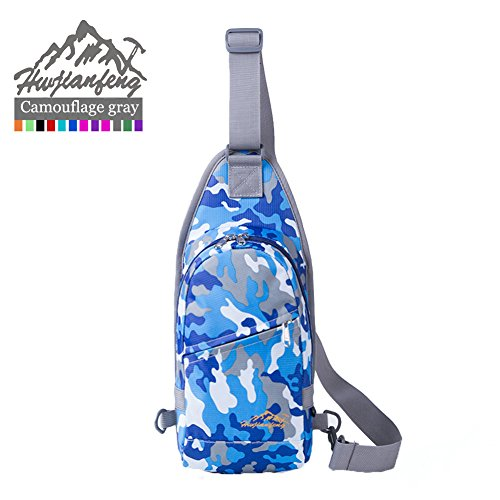 SAMI STUDIO Sling Bag Waterproof Sport Chest Pouch Gym Fanny Backpack Shoulder Crossbody Single Shoulder Bag