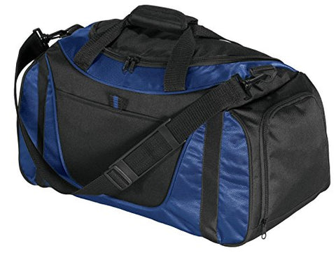 Port & Company Luggage-And-Bags Improved Two Tone Small Duffel Osfa Navy/ Black