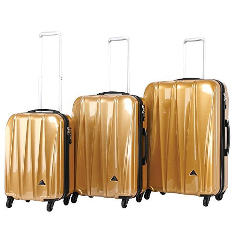 Triforce Trident Collection Hardside 3 Piece Spinner Luggage Set