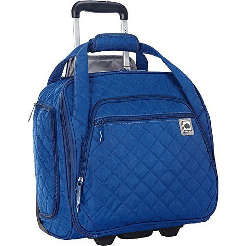 Delsey Quilted Rolling UnderSeat Tote- EXCLUSIVE (Navy)