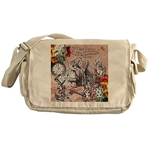 CafePress - Alice In Wonderland Vintage Adventures Messenger B - Unique Messenger Bag, Canvas Courier Bag