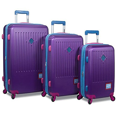 Rolite Mod Hardside 3-Piece Spinner Expandable Luggage Set - Purple