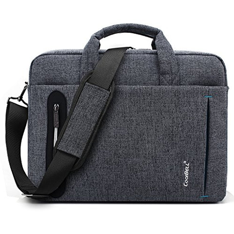 Coolbell 15.6 Inch Laptop Bag Messenger Bag Hand Bag Multi-Compartment Briefcase Oxford Nylon