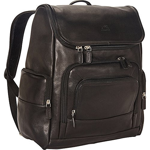 "Mancini Leather Goods Columbian 15.6"" Laptop Backpack with RFID Secure Pocket"