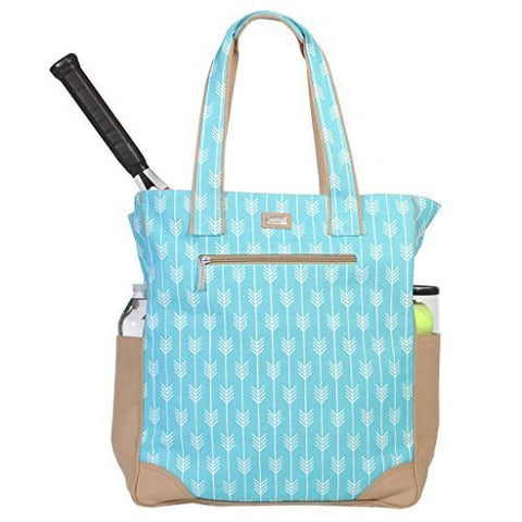 Ame & Lulu Women's Tennis Tote Bag-Lagoon