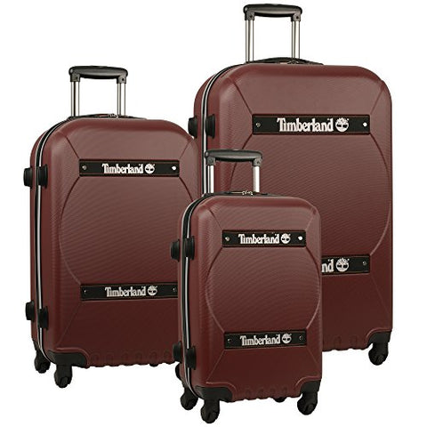 Timberland Shelburne Expandable Three Piece Hardside Luggage Set (21In/24In/28In), Chocolate