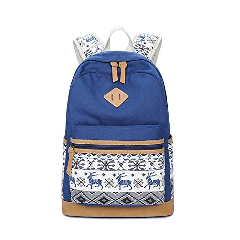 S Kaiko Horse Pattern Canvas Backpack Casual Daypacks School Backpack For Women And Men Laptop