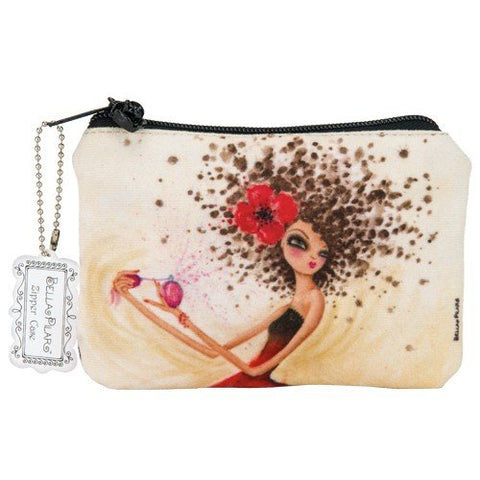 Santa Barbara Design Studio Bella Pilar Zippered Pouch, Perfume Girl, Black/Red/Yellow