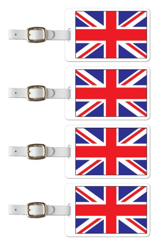 Tag Crazy Great Britain Premium Luggage Tags Set Of Four, Red, One Size