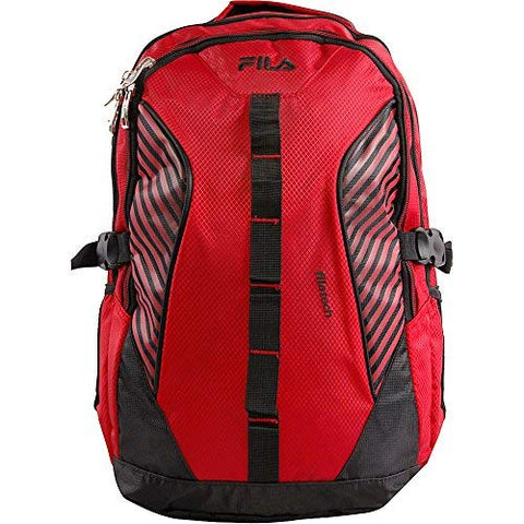 Fila Hunter Laptop Backpack, RED/BLACK, One Size