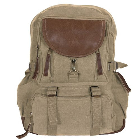 Fox Outdoor Products Retro Parisian City Daypack, Khaki