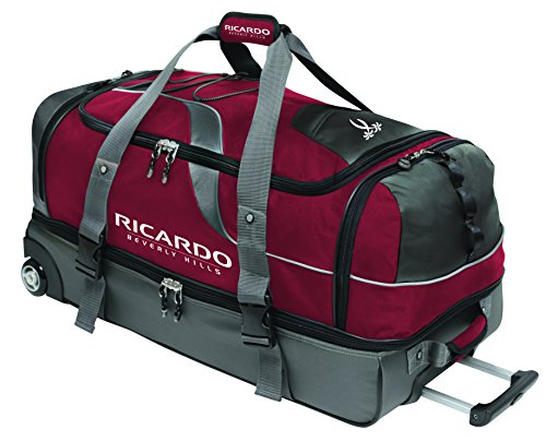 Ricardo Beverly Hills Essentials 30-Inch 2 Wheel Drop Bottom Duffel, Red, One Size