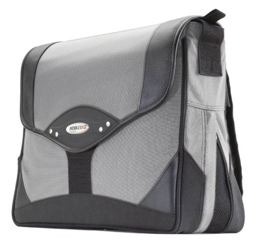 Mobile Edge Premium Messenger Bag- 15.4-Inch Pc/17-Inch Macbook Pro (Black/Silver)