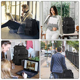 Large Travel Backpack, Professional Business Carry on Backpack for Men and Women,Large TSA Laptop Backpack Water Resistant Flight Approved Computer Bag Weekender Daypack Fit 17inch Laptop,Black