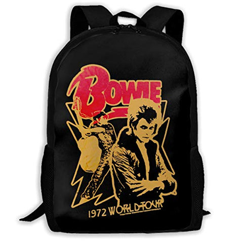 MAQPISHG David Bowie Waterproof College Bookbags Durable Camping Daypacks