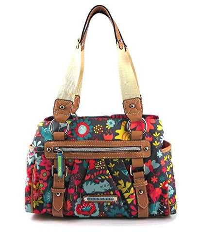 Lily Bloom Landon Triple Section Satchel, Playful Garden