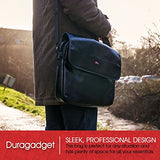 "DURAGADGET Luxury PU Leather 15.6"" Laptop Zip-up Carry Bag in Black for Lenovo IdeaPad Flex 14"