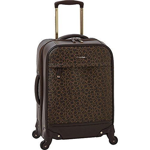 "Calvin Klein Mulberry 20"" Upright Spinner, Brown"