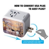 Travel Adapter Uppel Dual Usb All-In-One Worldwide Travel Chargers Adapters For Us Eu Uk Au About