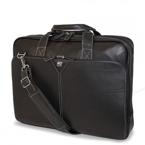 Mobile Edge Deluxe Leather Briefcase- 16-Inch PC/17-Inch MacBook Pro