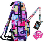 My Little Pony Backpack with Lanyard and Keychain Charm (Comic Strip Version)
