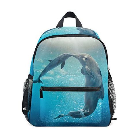 GIOVANIOR Kiss Dolphin Tale Travel School Backpack for Boys Girls Kids