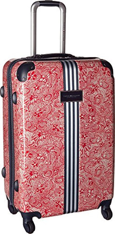"Tommy Hilfiger Unisex Th-683 Pineapple Palm 25"" Upright Suitcase Red One Size"