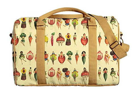 Fruits Girls Printed Canvas Duffle Luggage Travel Bag Was_42