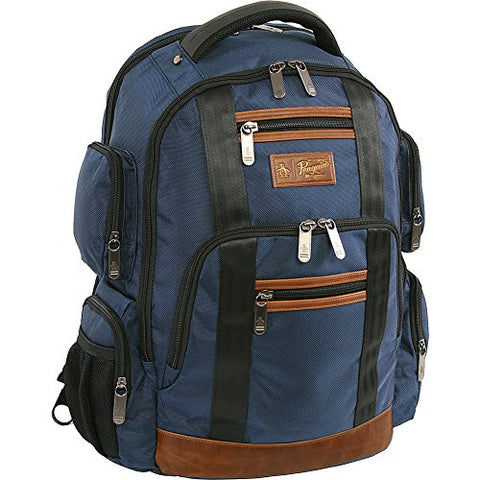 Original Penguin Peterson Fits Most 15-Inch Laptop And Notebook Backpack, Navy, One Size