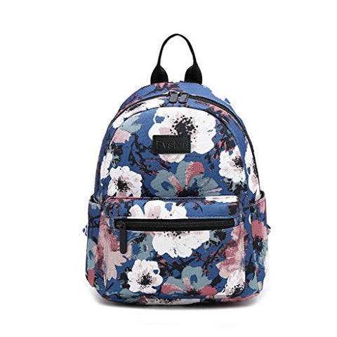 Fvstar Floral Canvas Teen Girls Backpack Cute Mini School Bag Purse Rucksack Pocketbooks