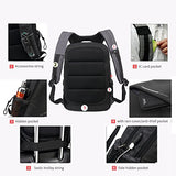 SAMI STUDIO Laptop Backpack Business Computer Bag with USB Charging Port Fits 15 15.6 inch Laptop / Notebook black