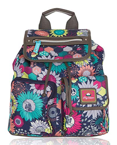 Lily Bloom Riley Multi-Purpose Backpack (Sunflower Peace)