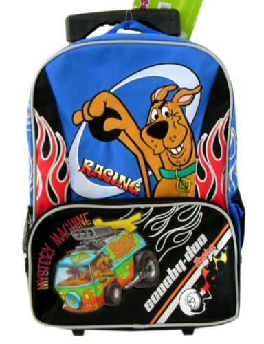 Mystery Machine Scooby Doo Rolling Backpack- Racing