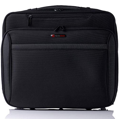 Alpine Swiss Rolling Laptop Briefcase Wheeled Overnight Carry on Bag Up to 15.6 Inches Notebook -
