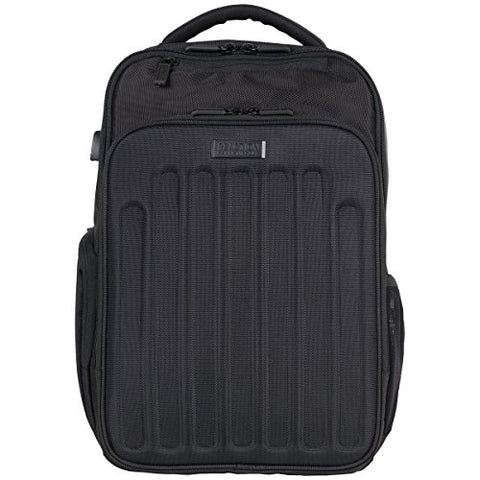 "Kenneth Cole Reaction 1680d Polyester Checkpoint Friendly 15.6"" Computer Backpack With Usb Port & Rfid Laptop Backpack, Black"