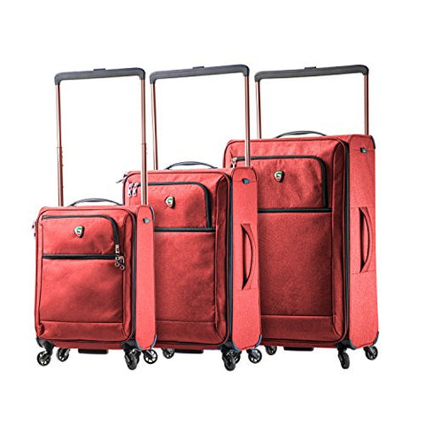 Mia Toro Italy Kitelite Cirro Softside Spinner Luggage 3pc Set - Red