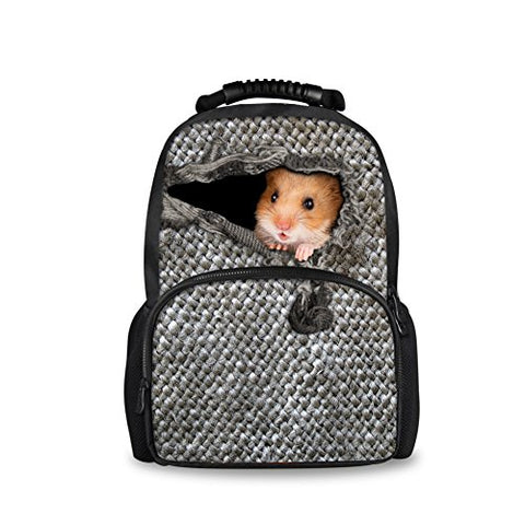Bigcardesigns Fashion Hamster School Bag For Girls Boys