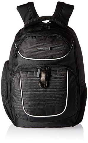 Perry Ellis Men'S P13 Business Tablet Pocket Laptop Backpack, Black, One Size