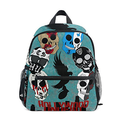 GIOVANIOR Hollywood Undead Sugar Skulls Travel School Backpack for Boys Girls Kids