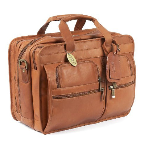 Claire Chase Executive Computer Briefcase, Saddle, One Size